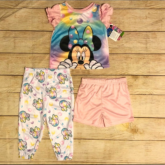 Disney Junior Minnie Mouse 3-piece Pajama Set- NEW